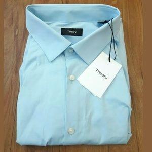 NEW THEORY Mens Dover Spr 18L Powder Blue Shirt